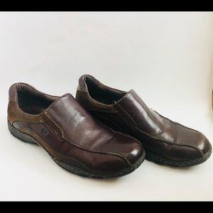 Born Slip On Leather Loafer Brown Shoes Size 11